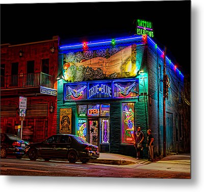 Metal Print featuring the photograph True Blue Tattoos by Tim Stanley
