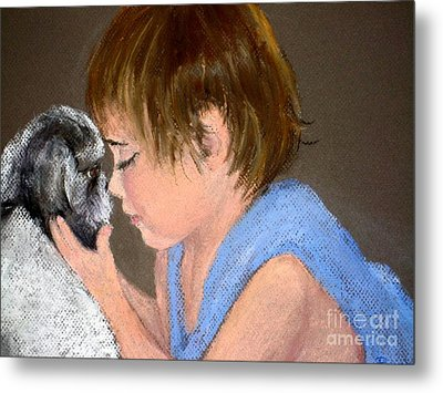 Metal Print featuring the painting True Love by Mary Lynne Powers