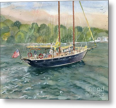 True Love Schooner Metal Print