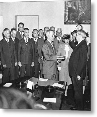 Truman Becomes President Metal Print by Underwood Archives
