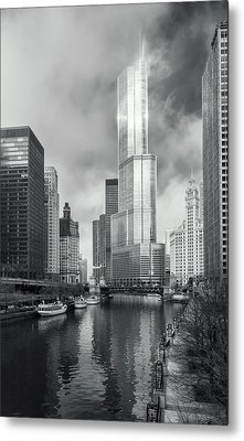 Metal Print featuring the photograph Trump Tower In Chicago by Steven Sparks