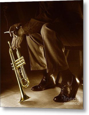 Trumpet 2 Metal Print by Tony Cordoza