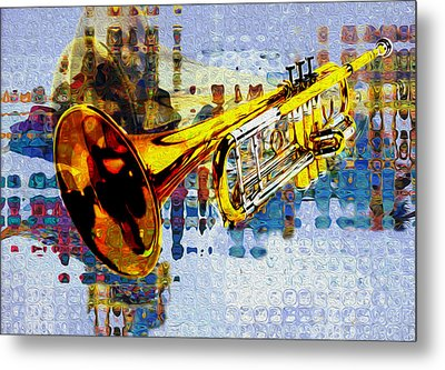 Trumpet Metal Print by Jack Zulli