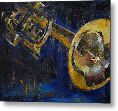Trumpet Metal Print by Michael Creese