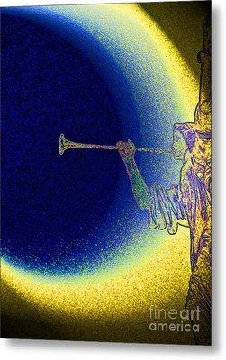 Trumpet Moon Metal Print by First Star Art
