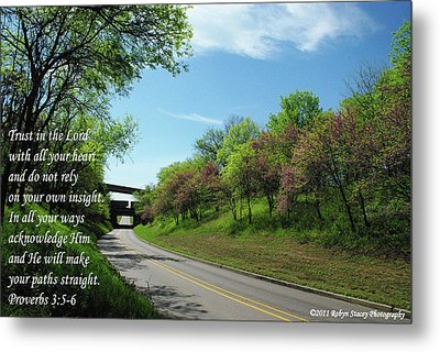 Trust In The Lord Metal Print by Robyn Stacey