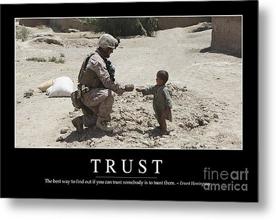 Trust Inspirational Quote Metal Print by Stocktrek Images