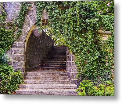 Tryon Park Arch Metal Print by Jon Woodhams