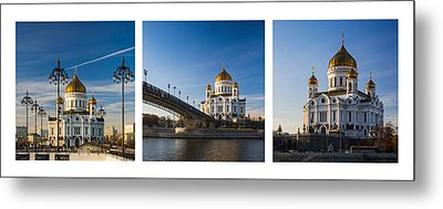 Tryptich - Cathedral Of Christ The Savior Of Moscow City - Features 3 Metal Print by Alexander Senin