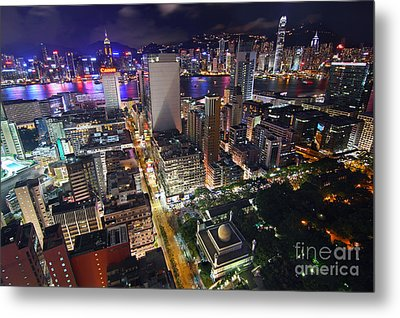 Tsim Sha Tsui In Hong Kong Metal Print by Lars Ruecker