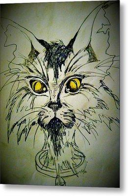 Tsimos Cat Metal Print