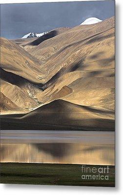 Golden Light Tso Moriri, Karzok, 2006 Metal Print by Hitendra SINKAR