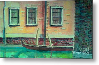Tucked Into The Canal Metal Print by Rita Brown