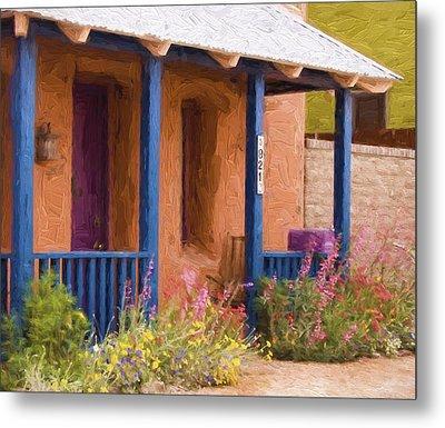 Tucson 821 Barrio Painterly Effect Metal Print by Carol Leigh