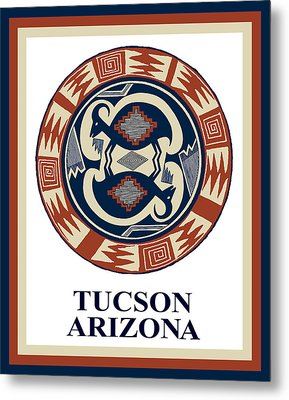 Metal Print featuring the digital art Tucson Arizona  by Vagabond Folk Art - Virginia Vivier