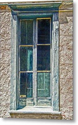 Tucson Arizona Window Metal Print by Gregory Dyer