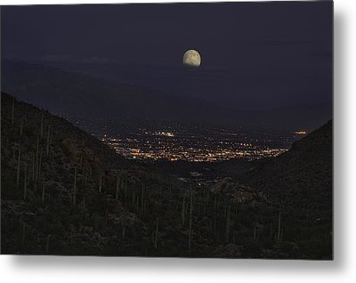 Metal Print featuring the photograph Tucson At Dusk by Lynn Geoffroy