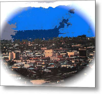 Tucson From A Mountain Ray Manley 1957-2013 Metal Print