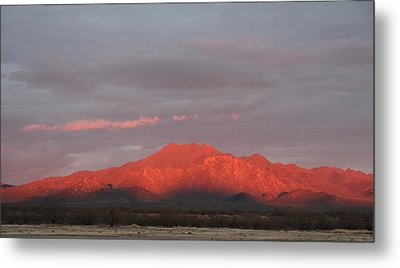 Metal Print featuring the photograph Tucson Mountains by David S Reynolds