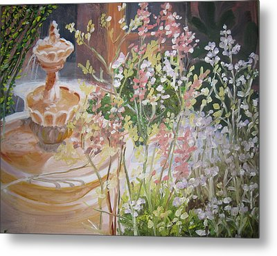 Metal Print featuring the painting Tucson Spring by Julie Todd-Cundiff