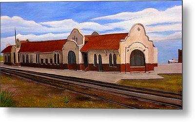 Tucumcari Train Depot Metal Print
