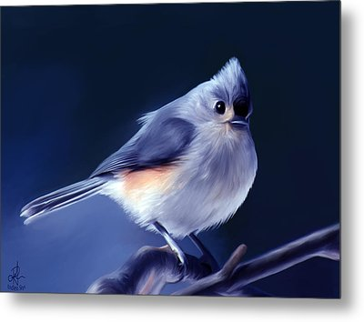 Tufty The Titmouse Metal Print by Pennie  McCracken