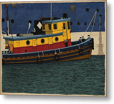 Tug Metal Print by Meg Shearer