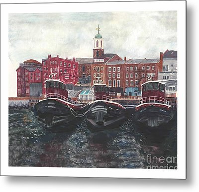 Tugboats Of Portsmouth Metal Print