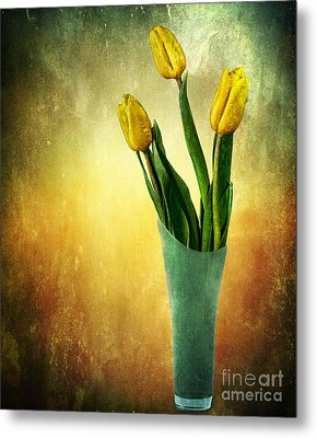 Tulip Bouquet Metal Print by Shirley Mangini