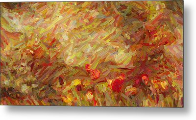 Tulip Garden Abstract Metal Print by Kenny Francis