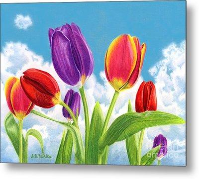 Tulip Garden Metal Print by Sarah Batalka