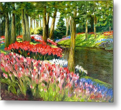 Tulip Gardens Metal Print