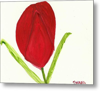 Tulip Of The Heart Metal Print by Tracey Williams