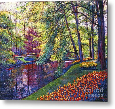 Tulip Park Metal Print by David Lloyd Glover