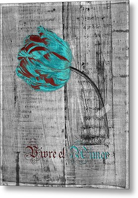 Tulip - Vivre Et Aimer S12ab4t Metal Print by Variance Collections