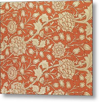 Tulip Wallpaper Design Metal Print by William Morris