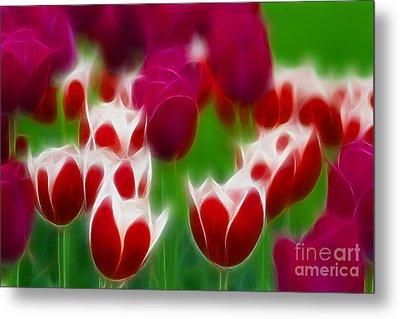 Tulips-6848-fractal Metal Print by Gary Gingrich Galleries
