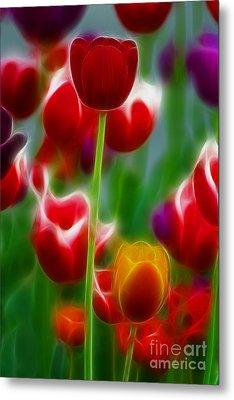 Tulips-7069-fractal Metal Print by Gary Gingrich Galleries