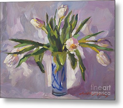 Tulips At Springtime Metal Print