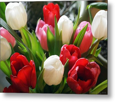 Tulips Metal Print by Deborah Fay