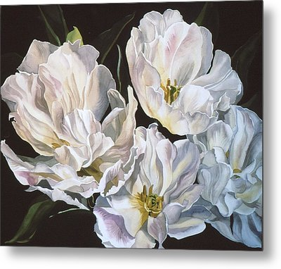 Tulips In Spring Metal Print by Alfred Ng