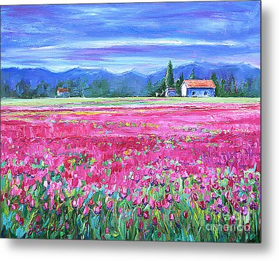 Tulips In Spring Metal Print by Jennifer Beaudet