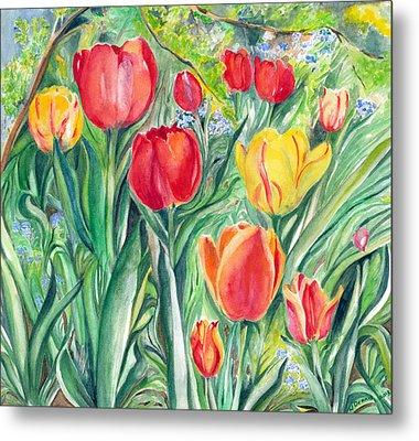 Tulips Metal Print by Nadine Dennis
