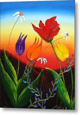 Tulips Of Woodburn Oregon Metal Print by Portland Art Creations