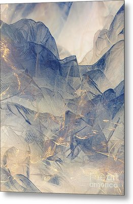 Tulle Mountains Metal Print