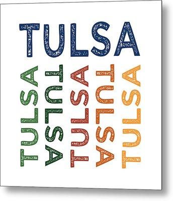 Tulsa Cute Colorful Metal Print