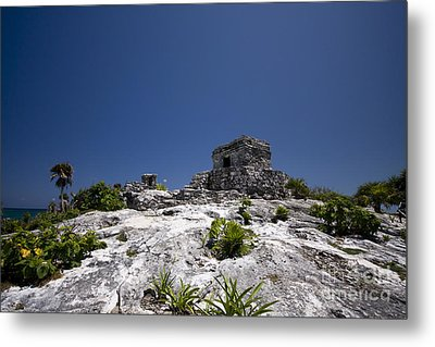 Tulum Mayan Ruins 23 Metal Print by Mark Baker