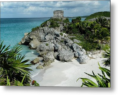 Tulum Ruins In Mexico Metal Print by Polly Peacock