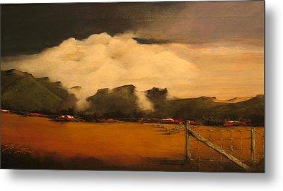 Tumbling Clouds Metal Print by Diane Strain