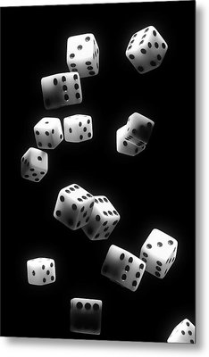 Tumbling Dice Metal Print by Tom Mc Nemar